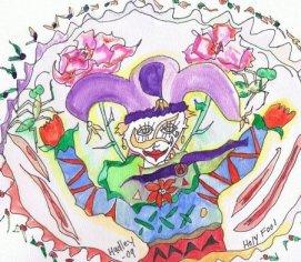 Jester watercolr by Hudley
