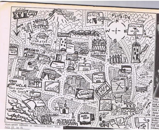 This is a very accurate map of our city-by Dee , Hilda, Al and Holly.