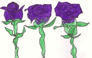 Purple flowers by Hudley