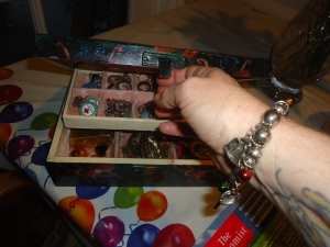 Jewelry box and Christmas braclet