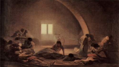The Plague Hospital, Fransisco de Goya