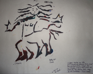 image rellief / Stencil of Chiron 1995