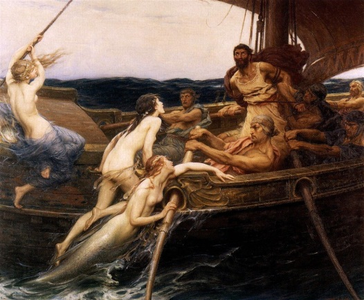 HerbertJamesDraper-Ulysses-and-the-Sirens-1909_flipped