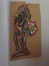 Man Flower stencil