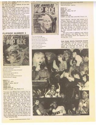 Punk Fashion Show in early Los Angeles Flipside Fanzine