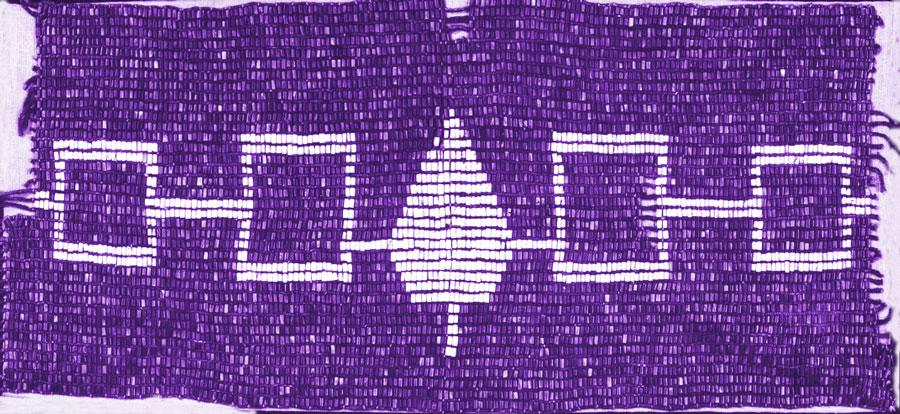 This image has an empty alt attribute; its file name is hiawatha_belt_purple.jpg